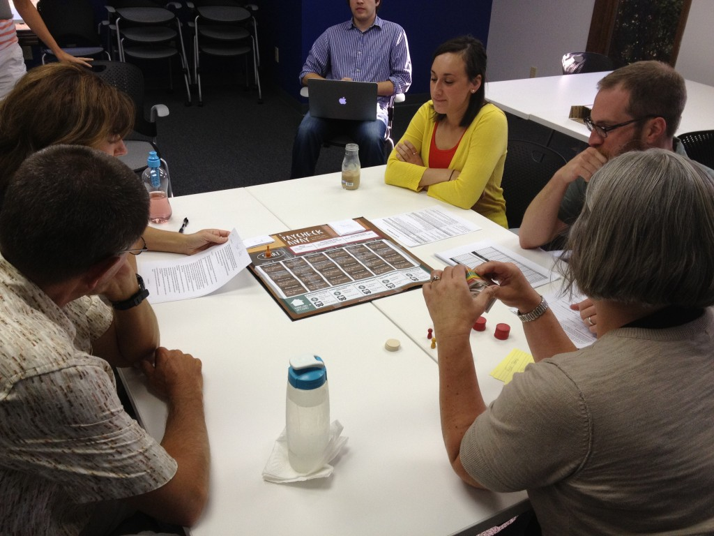 "Play-testing ""A Paycheck Away"""