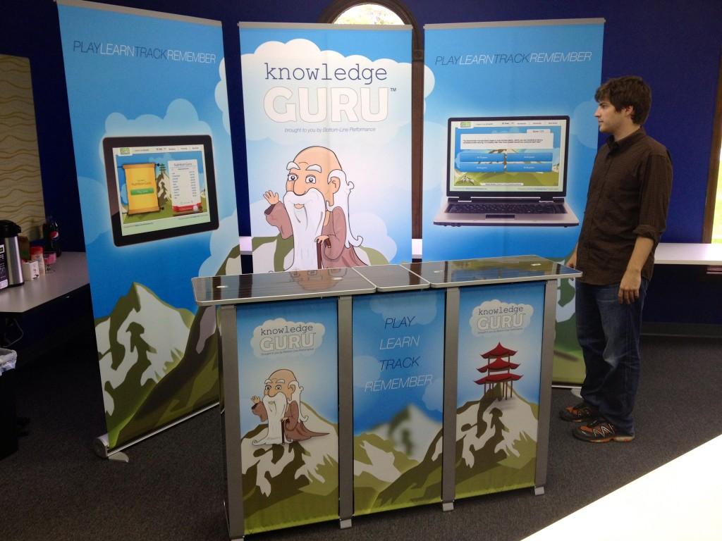 Knowledge Guru DevLearn expo booth