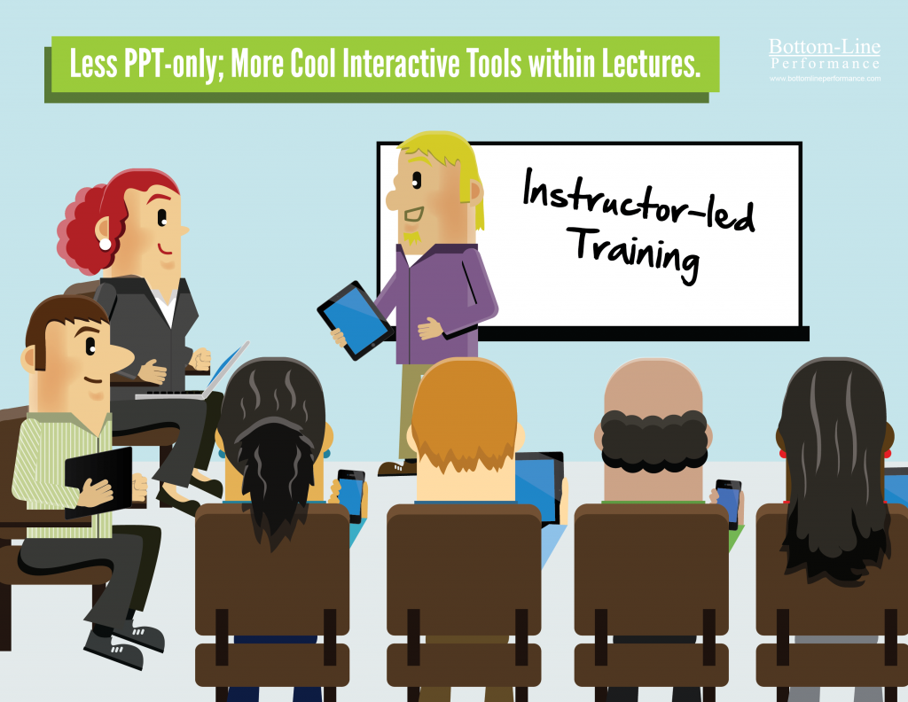 Less PPT Only; More Cool Interactive Tools Within Lectures