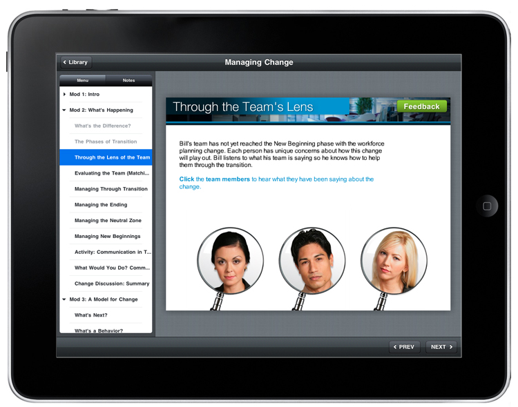 Articulate Storyline - Large links for iPad