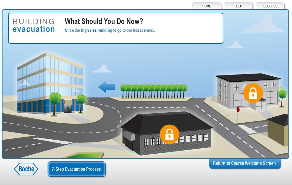 Building Evacuation - Landing Page