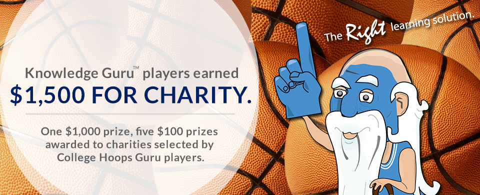 Knowledge Guru players earned $1,500 in charitable donations on behalf of BLP.