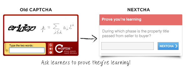Example of NEXTCHA from the Multimedia Learning Site