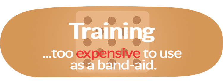 Training - too expensive to use as a band-aid.