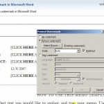 Sample video from uTIPu on adding a watermark in Word 2007.